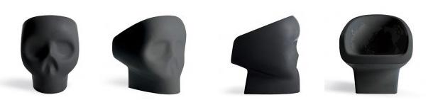 Кресло в форме черепа Gufram, Веселый Роджер