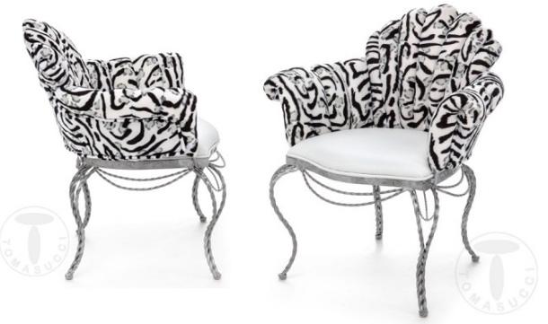 необычное кресло QUEEN ELISABETH от Tomasucci