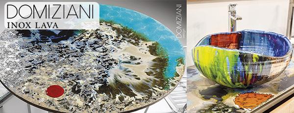 Domiziani (Италия) — столы и раковины из натурального вулканического камня