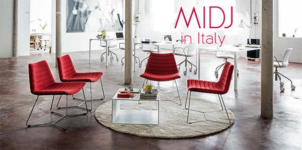 MIDJ: стулья и столы с официального сайта в Италии