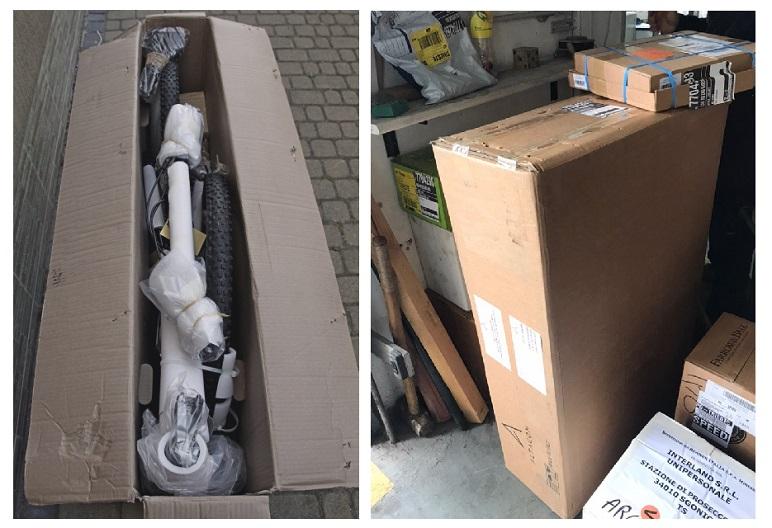 Фото-отчет доставки электровелосипеда со склада в Германии