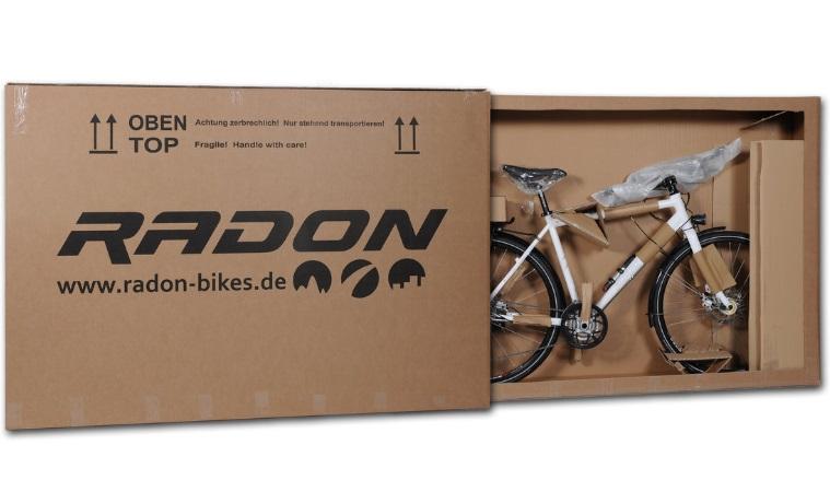 Коробка с электронным велосипедом