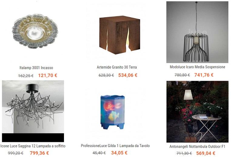 Подвесные светильники, люстры и настольные лампы Professioneluce.
