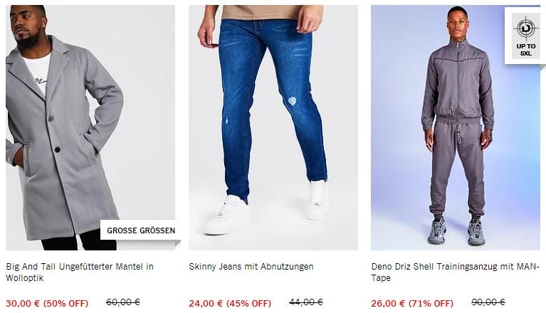 Интернет-магазины Германии - Boohooman.com