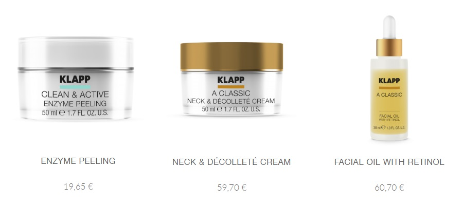 Немецкая косметика Klapp Cosmetics