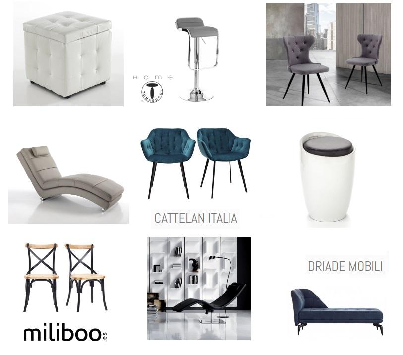 Итальянская мебель: стулья, кресла, шезлонги и пуфы