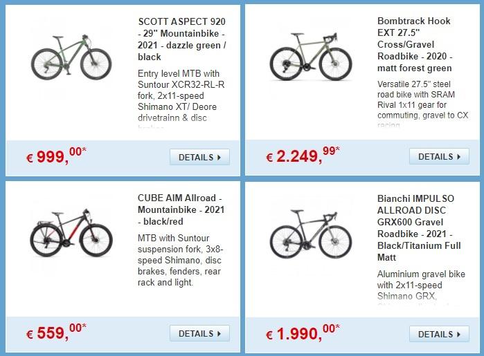 Купить велосипед в Германии