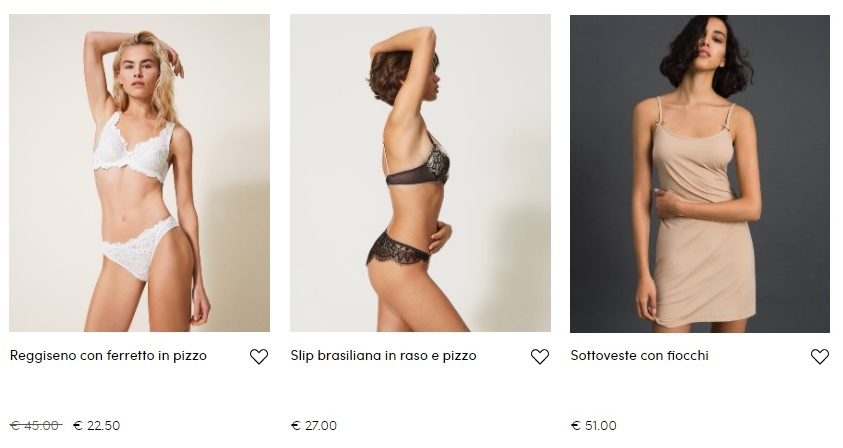 Купить нижнее белье в Европе